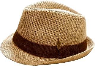 AINIYF Top Hat British Sun Hat, Summer Outdoor Travel Cap Sun Protection UV Sun Hat Beach Hat Jazz Hat Unisex (Color : Brown, Size : S (54-56cm))
