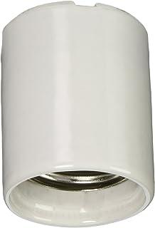 Unglazed Porcelain Lampholder,White Leviton 368 Medium Prong Base