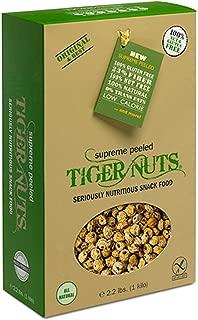 Supreme Peeled Tiger Nuts(2.2 lbs)| Gluten Free, High Fiber, Gluten, Non-GMO
