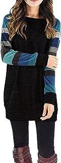 df9d415fe7a0f7 ZIOOER Donna Longshirt Maglia a Manica Lunga Cardigan Golfino Asimmetrico  Felpa Camicia Pullover Camicetta T-