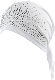 RRiody Women's Head Scarf Pre-Tied Chemo Hat Beanie Strench Turban Headwear Hair Wrap for Cancer Patients