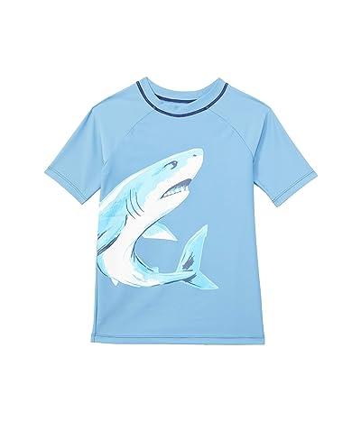 Hatley Kids Deep-Sea Shark Short Sleeve Rashguard (Toddler/Little Kids/Big Kids) (Blue) Boy