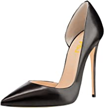 FSJ Women Formal Dress Shoes Pointed Toe D'Orsay High Heels Sexy Stiletto Pumps Size 4-15 US