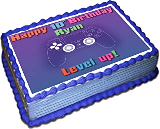 Gamer (PS4) Personalized Cake Toppers Icing Sugar Paper 1/4 8.5 x 11.5 Inches Sheet Edible Frosting Photo Birthday Cake Topper (Best Quality Printing)