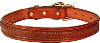 Perri's Md Chestnut/Brown Leather Overlay Dog collar
