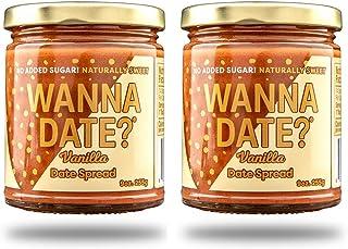 Wanna Date? Vanilla Date Spread, Vegan, Paleo Friendly, Gluten-Free, Dairy-Free, Non-GMO, No Added Sugar, No Cane Sugar, W...
