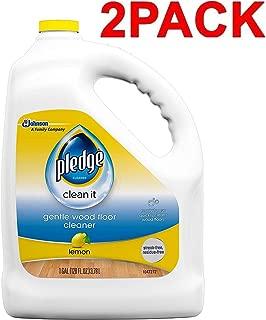 Pledge Gentle Wood Floor Cleaner, Lemon, 128 Fluid Ounce (2-Pack)