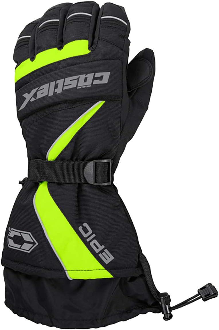 Castle X Epic-G1 Mens Snowmobile Gloves Hi-Vis SML