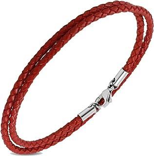 SimpleLife Chanceux Rouge Noir Corde Kabbalah Corde Bracele avec Fermoir Magn/étique Bijoux Bracelets Unisexe