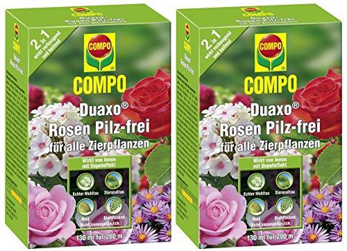 Compo Duaxo Rosen Pilz-Frei, Bekämpfung von Pilzkrankheiten an Allen Zierpflanzen, Konzentrat inkl. Messbecher, 260 ml