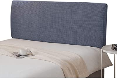 Headboard Slipcover Bed Headboard Cover Stretch Dustproof SlipCover Wood Leather Decorative Solid Color Protector for Bedroom Decor (Color : Gray, Size : 150-165CM)
