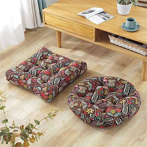 EXQULEG 1 styck sittdyna stolkudde, fyrkantig och rund form sittdyna, dekorativ kudde golvkudde för inomhus och utomhus prydnadskudde (#7, kvadratisk form)