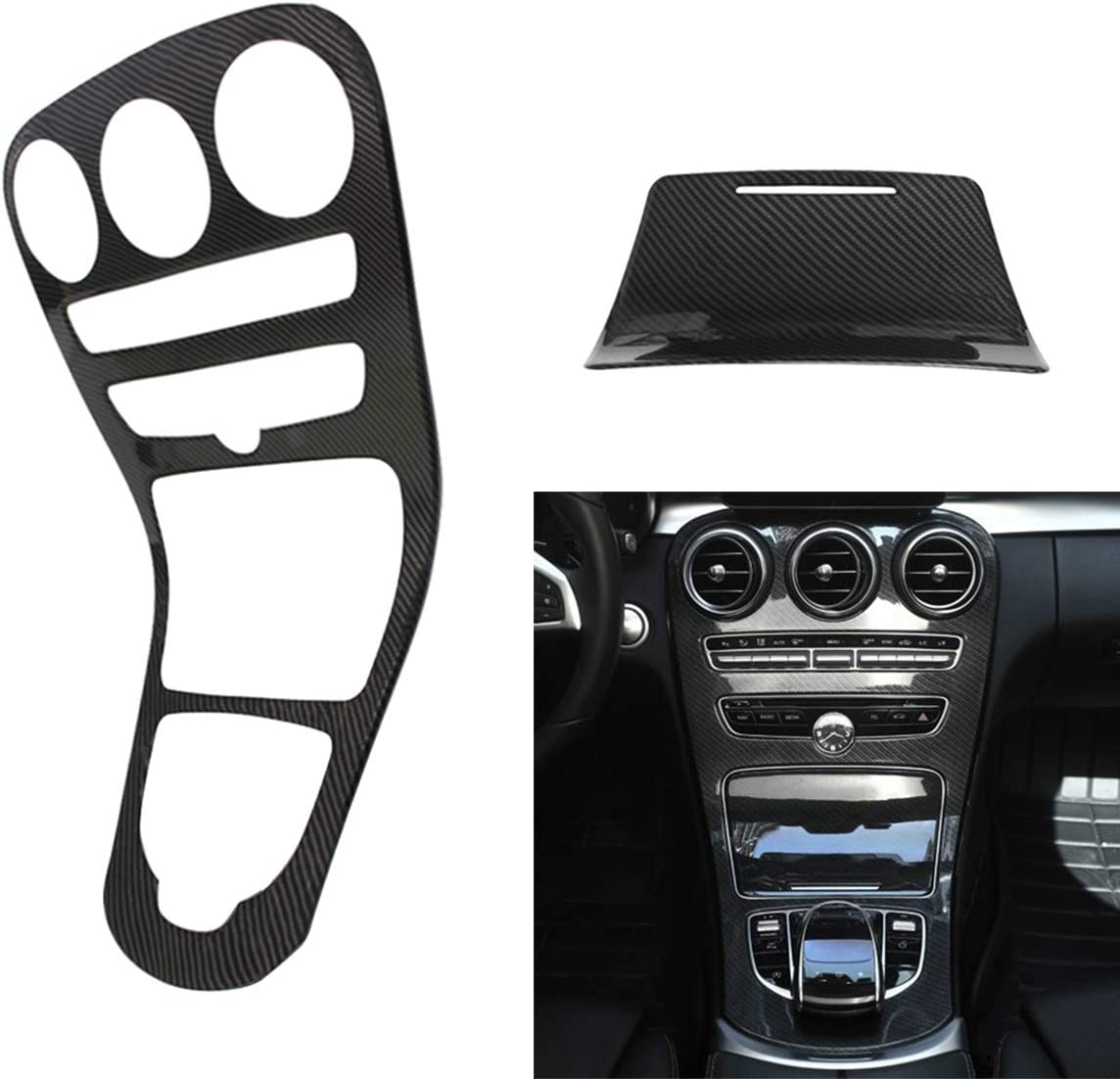 NewYall Carbon Fiber Center Console Frame Cover Omaha Price reduction Mall Panel Gear Shift