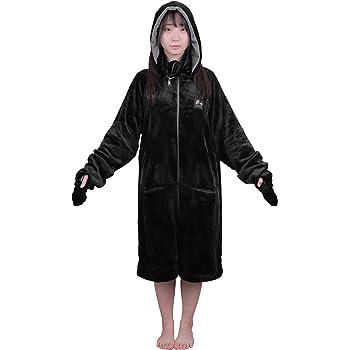 Bauhutte(バウヒュッテ) ゲーミング着る毛布 ダメ着4G LITE ブラック Lサイズ HFD-4LT-L-BK