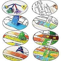 wuudi Confezione di pennelli per Bambini, Kit di Spugna per Pittura con apprendimento precoce con Grembiule Impermeabile a Manica Lunga, Kit di Disegno per 56 Pezzi #2