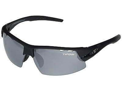 Tifosi Optics Crit (Matte Black Frame Smoke/AC Red/Clear Lenses) Sport Sunglasses