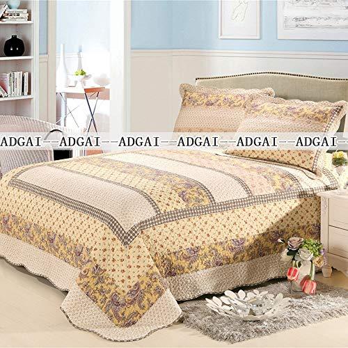 ADGAI sprei patchwork beige ree 3 stuks omkeerbaar patchwork coverlet met 2 kussens voor decoratie Domestica zachte microvezel Fuzzy sprei