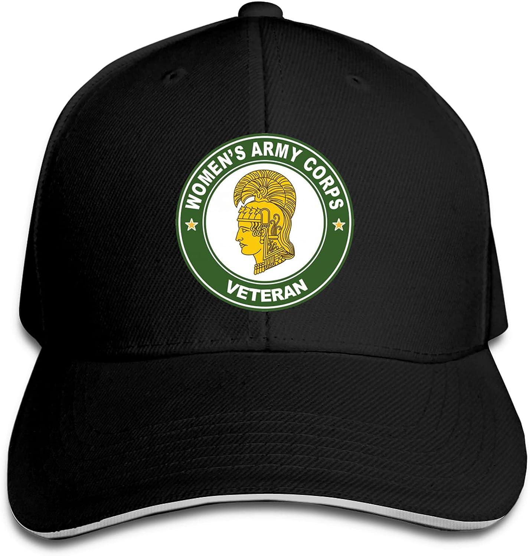 Women's Army Corps Veteran WAC Sandwich Cap Baseball hat Unisex Trucker Caps