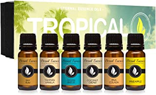 Tropical Gift Set of 6 Premium Grade Fragrance Oils - Coconut Cream, Bay Rum, Pina Colada, Tahitian Vanilla...