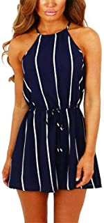 YOINS Rompers for Women Long Sleeves Sexy High-Waisted Stripe Overalls Fashion Casual Playsuits
