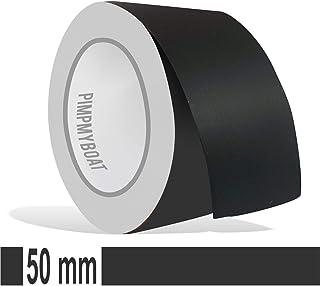 Siviwonder Zierstreifen schwarz matt in 50 mm Breite und 10 m Länge Folie Aufkleber für Auto Boot Jetski Modellbau Klebeband Dekorstreifen Mattschwarz
