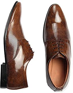 T-Rock Men's Lace up Brown Formal Shoes
