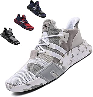 SKDOIUL Men's Slip On Sports Trail Running Shoes Mesh Breathable Lightweight Sneakers