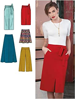 SIMPLICITY MISSES' SLIM AND FLARED SKIRTS, CROPPED PANTS, AN-6-8-10-12-14 (Pack of 1)