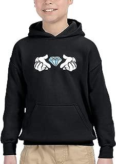 Toddler Diamond Hands Hoodie Boys Girls 100% Cotton Hooded Sweatshirt (2-6 Years)