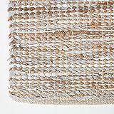 Homescapes Flickenteppich Madras, Naturfaser-Teppich aus recyceltem Leder und Hanf, 120 x 180 cm, Natur - 4