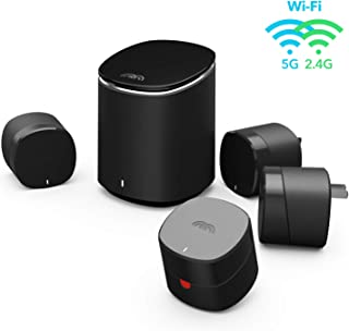 Mercku Mesh WIFI System Best Router Network for Whole Home Internet(1 M2 Standalone + 4 Bee Mesh Nodes) Wireless Coverage 5000 Sq. Compact Plug-In Design ft Wi-Fi Extenders Automatic Connection ac1200