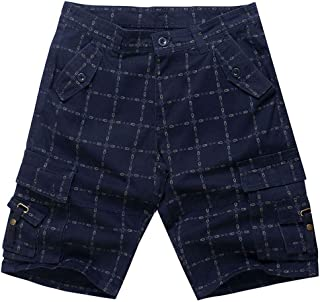 d5de9c77adc Pantalones Cortos De Carga De AlgodóN Holgados con Varios Bolsillos para  Hombres Pantalones Cortos De Talla