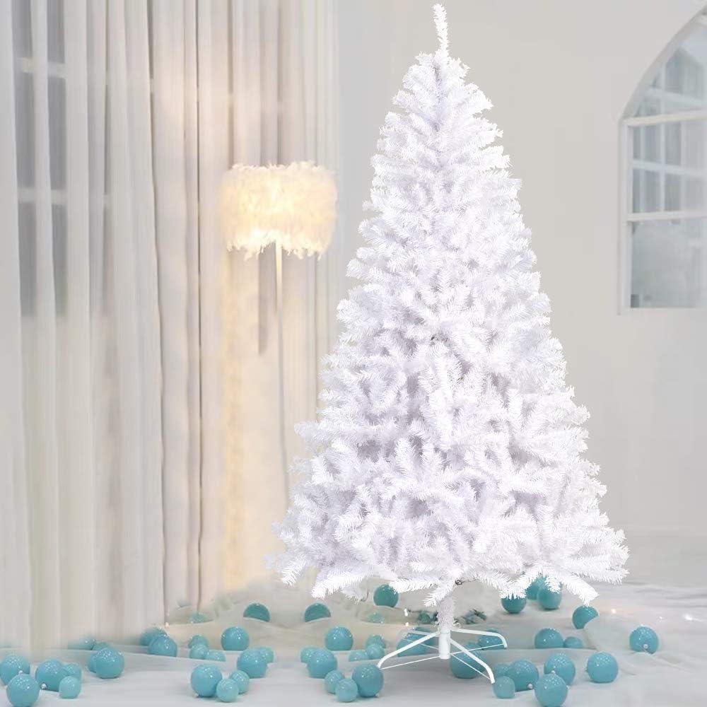 La fete 9FT Department store White Hinged Artificial Pine Christmas Jumbo Tree Popular overseas X