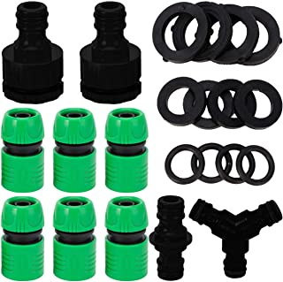 Balacoo Drip Irrigation Fittings Kit Quick Connect Couplings Tees Tubing Connectors Pipe Splitter Distributor for 1/2 Yard...