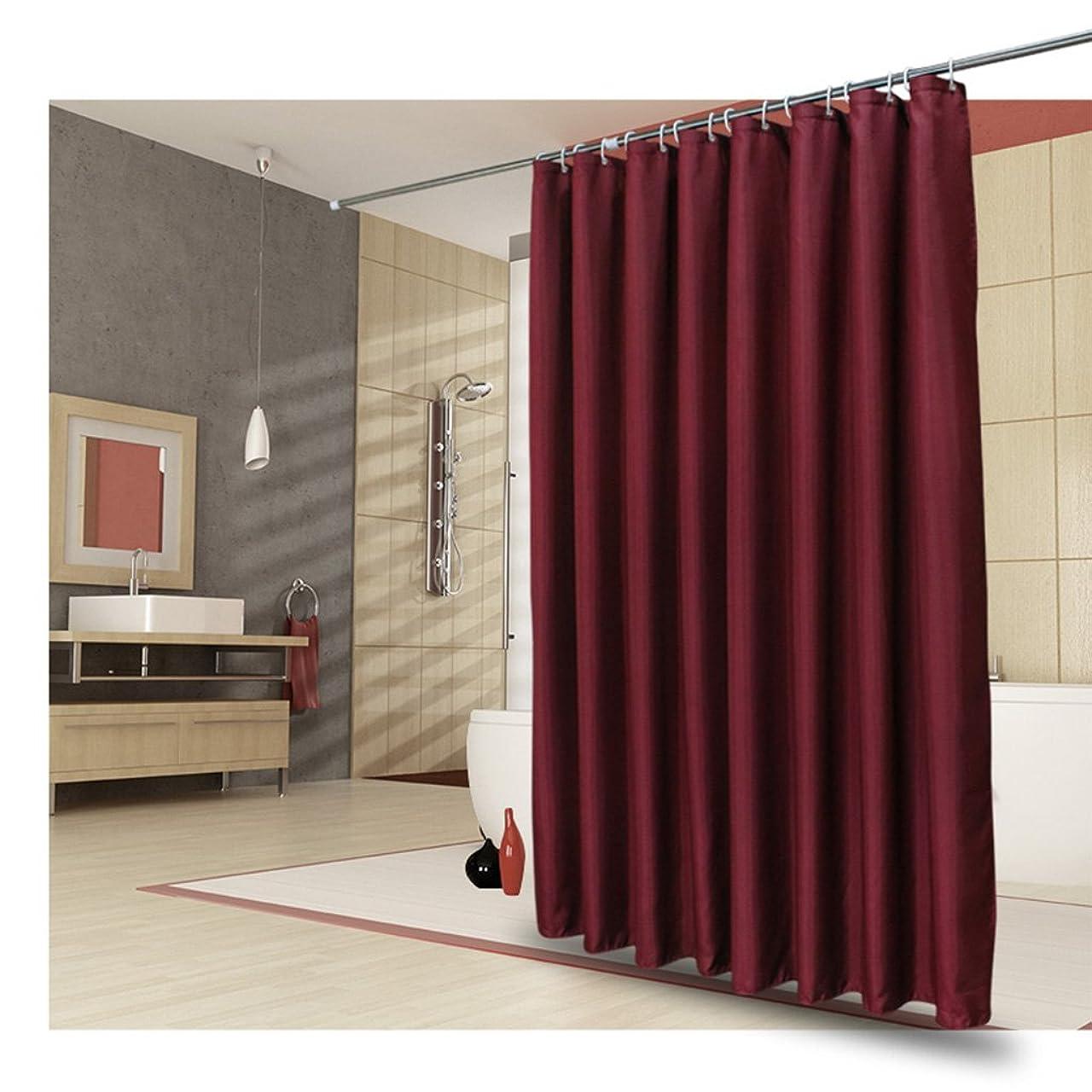 当社規制帆シャワーカーテン 浴室シャワーカーテン パーティションカーテン - 防水 Mouldproof 濃い 赤 バス用品 (Size : 240X200CM)