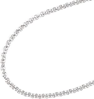 JFSG 316L Stainless Steel Rolo Chain Necklace For Men Or Women 2/3/4/5/6mm 18-32 Inches
