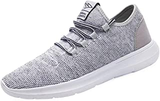Vamtic Men's Sneakers Fashion Minimalist Lightweight Breathable Athletic Running Walking Shoes Slip-On for Tennis Volleyball Gym Gray Size: 13
