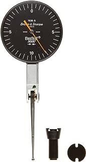 Brown & Sharpe 599-7035-5 Dial Test Indicator Set, M1.4x0.3 Thread, Black Dial, 0-10-0 Reading, 1.5