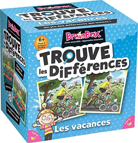 BrainBox: Trouve The Differences - Urlaub - Asmodee - Gesellschaftsspiel - Beobachtungs- und Gedächtnisspiel - Kinderspiel