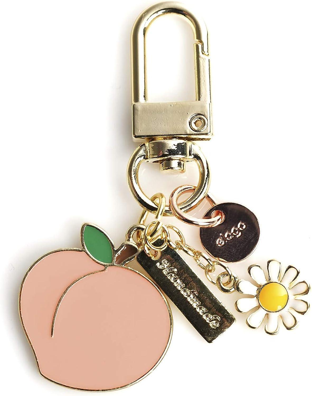 elago AirPods Keyring [PEACH] - Charm for AirPods, Handbag, Tote, Purse, Backpack, Bag, Car Key, Durable Keychain, Sturdy material, Cute Accessories for Women