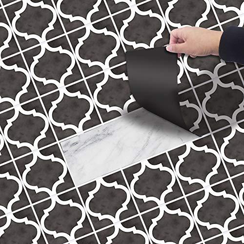 1 stk doe-het-zelf vloer sticker tegel PVC Sticker, patroon stijl vloertegel tegel kleur waterdicht voor keuken vloer badkamer woonkamer, 20 * 300CM 20 * 300CM Stijl 7