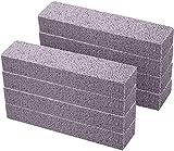 Hinleise Piedra pómez para limpieza de piedra pómez gris limpiador de bastones para quitar el anillo del inodoro, baño, cocina, piscina (8 piezas)