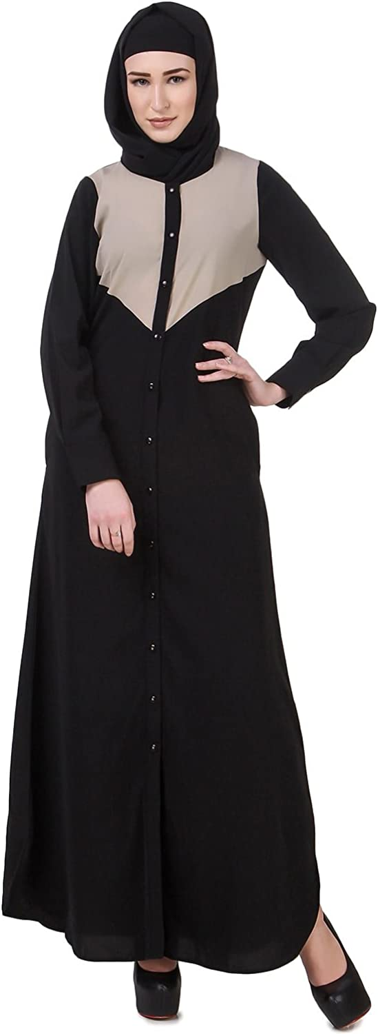 MyBatua Abaya Black Formal & Casual Wear Muslim Burqa Clothing Dress AY618