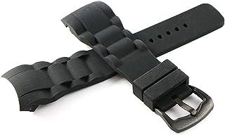 Swiss Legend 29MM Black Silicone Rubber Watch Strap w/Black Buckle 8.5