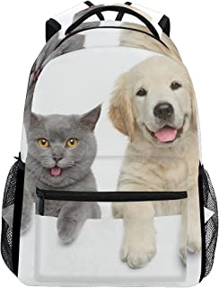 Gato Y Perro Casual Mochila Mochila Escolar bolsa de viaje Multicolor