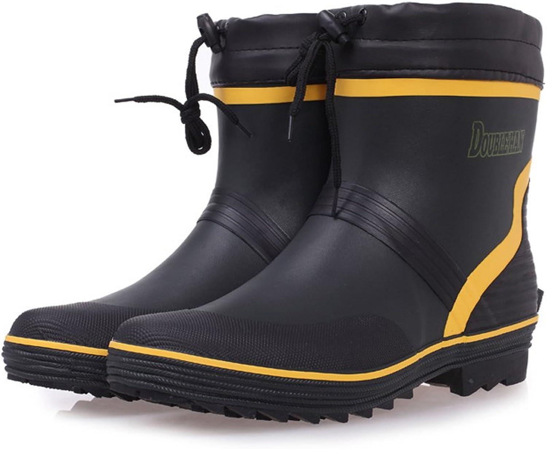 ZXCVBNM Non-Slip Men's Low Boots Rain Boots Rubber Boots Waterproof shoes