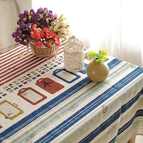 QZXCD Nap en Coton lavable Lin Windel Tour de fer visleerder Rouge Bleu Bar Maison Mode Tissu Tafel Basse Couverture servet différentes Tailles