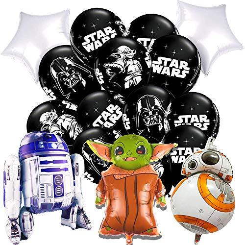 ARONTOME Globos De Star Wars, Decoración De Ramo De Globos, Suministros De Fiesta De Cumpleaños De Star Wars para Niños