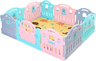 GWFVA Baby Fence Toddler Crawl Rugs Rugs Indoor Play Area Play Tent for the Park Play Tent Infant Castle Plastic