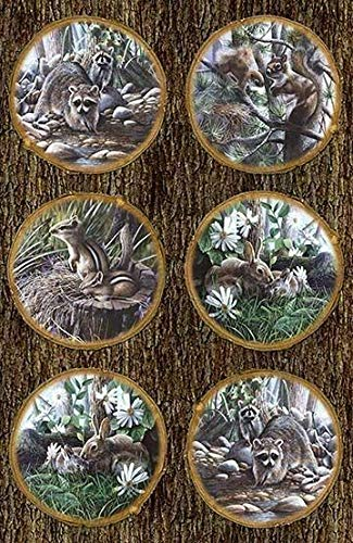 Friends of The Forest Digital Panel 28'' x 44'' Cotton Fabric by Northcott